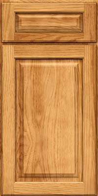 Arch Raised Panel - Solid (PWH) Hickory in Honey Spice - Base