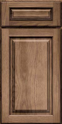 Square Raised Panel - Solid (MTH) Hickory in Husk - Base