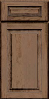 Square Raised Panel - Solid (MTH) Hickory in Husk Suede - Base