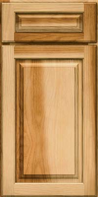 Square Raised Panel - Solid (MTH) Hickory in Natural - Base