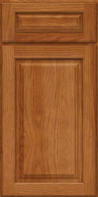 Arch Raised Panel - Solid (PWH) Hickory in Praline - Base