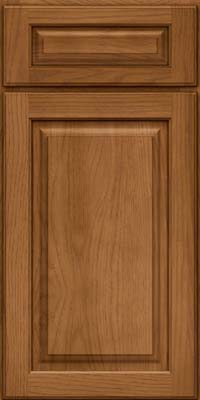 Square Raised Panel - Solid (MTH) Hickory in Rye - Base