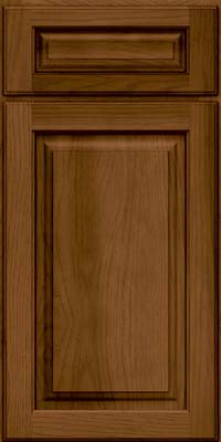 Arch Raised Panel - Solid (PWH) Hickory in Rye w/Sable Glaze - Base