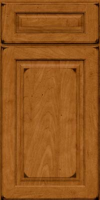 Square Raised Panel - Solid (MTM) Maple in Burnished Golden Lager - Base