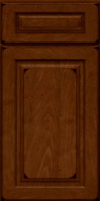 Arch Raised Panel - Solid (PWM) Maple in Burnished Chestnut - Base