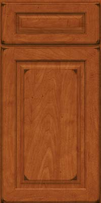 Square Raised Panel - Solid (MTM) Maple in Burnished Cinnamon - Base