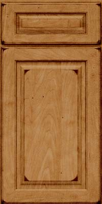 Square Raised Panel - Solid (MTM) Maple in Burnished Ginger - Base