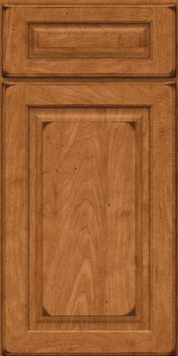 Square Raised Panel - Solid (MTM) Maple in Burnished Praline - Base