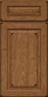 Square Raised Panel - Solid (MTM) Maple in Burnished Rye - Base