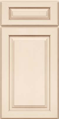 Square Raised Panel - Solid (MTM) Maple in Canvas w/Cocoa Glaze - Base