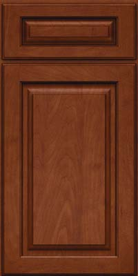 Square Raised Panel - Solid (MTM) Maple in Chestnut w/Onyx Glaze - Base