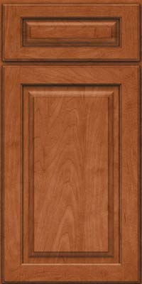 Square Raised Panel - Solid (MTM) Maple in Cinnamon - Base
