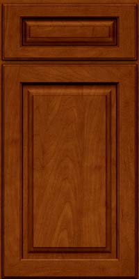 Arch Raised Panel - Solid (PWM) Maple in Cinnamon w/Onyx Glaze - Base