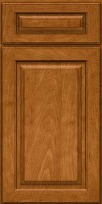 Square Raised Panel - Solid (MTM) Maple in Golden Lager - Base