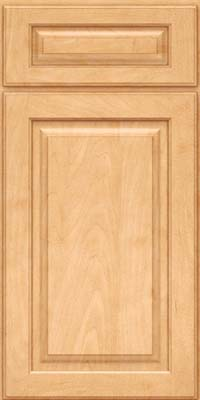 Square Raised Panel - Solid (MTM) Maple in Honey Spice - Base