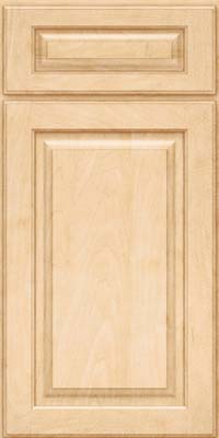 Square Raised Panel - Solid (MTM) Maple in Natural - Base