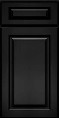 Arch Raised Panel - Solid (PWM) Maple in Onyx - Base