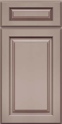 Square Raised Panel - Solid (MTM) Maple in Pebble Grey w/ Cocoa Glaze - Base