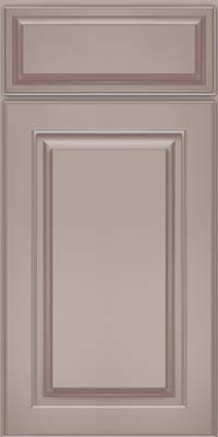 Square Raised Panel - Solid (MTM) Maple in Pebble Grey w/ Coconut Glaze - Base