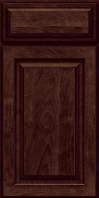 Square Raised Panel - Solid (MTM1) Maple in Peppercorn - Base