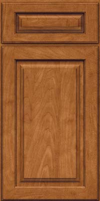 Square Raised Panel - Solid (MTM) Maple in Praline w/Onyx Glaze - Base