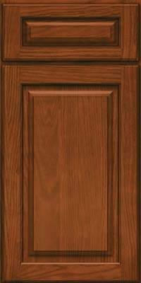 Square Raised Panel - Solid (MTO) Oak in Autumn Blush - Base