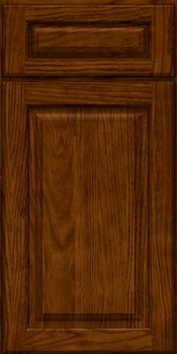 Square Raised Panel - Solid (MTO) Oak in Cognac - Base