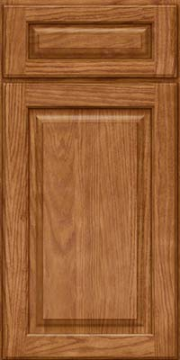 Square Raised Panel - Solid (MTO) Oak in Fawn - Base