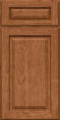 Square Raised Panel - Solid (MTO) Oak in Ginger w/Sable Glaze - Base