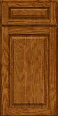 Square Raised Panel - Solid (MTO) Oak in Golden Lager - Base