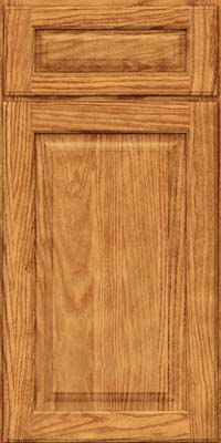 Square Raised Panel - Solid (MTO) Oak in Honey Spice - Base