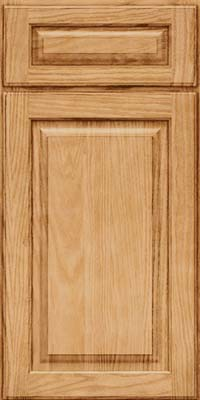Square Raised Panel - Solid (MTO) Oak in Natural - Base