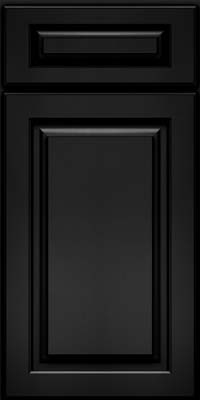 Square Raised Panel - Solid (MTO) Oak in Onyx - Base