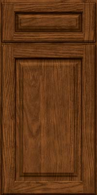 Square Raised Panel - Solid (MTO) Oak in Rye w/Sable Glaze - Base