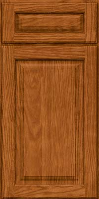 Square Raised Panel - Solid (MTO) Oak in Toffee - Base