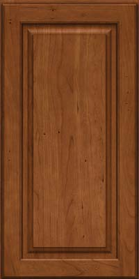 Square Raised Panel - Solid (MTC) Cherry in Antique Chocolate w/Mocha Glaze - Wall