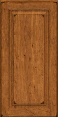 Square Raised Panel - Solid (MTC) Cherry in Burnished Golden Lager - Wall