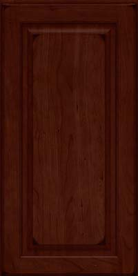 Square Raised Panel - Solid (MTC) Cherry in Burnished Cabernet - Wall