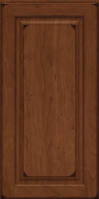 Square Raised Panel - Solid (MTC) Cherry in Burnished Chocolate - Wall