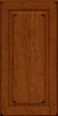 Square Raised Panel - Solid (MTC) Cherry in Burnished Cinnamon - Wall