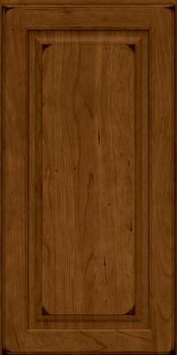 Square Raised Panel - Solid (MTC) Cherry in Burnished Ginger - Wall