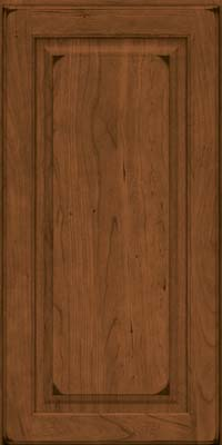 Square Raised Panel - Solid (MTC) Cherry in Burnished Rye - Wall
