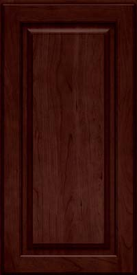 Square Raised Panel - Solid (MTC) Cherry in Cabernet - Wall
