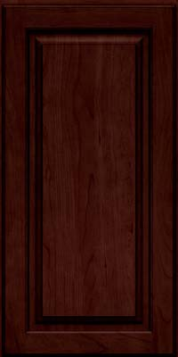 Square Raised Panel - Solid (MTC) Cherry in Cabernet w/Onyx Glaze - Wall