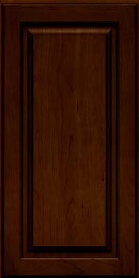 Piermont Square - Full (MTC4) Cherry in Chocolate w/Ebony Glaze - Wall