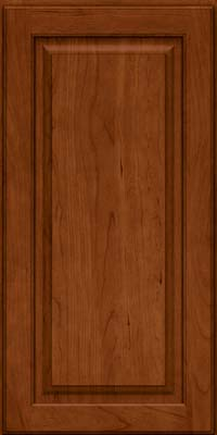 Square Raised Panel - Solid (MTC) Cherry in Cinnamon - Wall