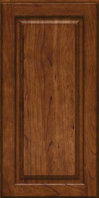 Square Raised Panel - Solid (MTC) Cherry in Cognac - Wall