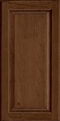 Square Raised Panel - Solid (MTC1) Cherry in Hazel - Wall