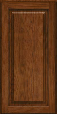Square Raised Panel - Solid (MTH) Hickory in Cognac - Wall