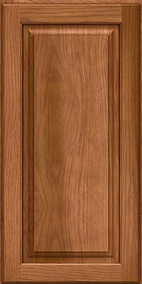 Square Raised Panel - Solid (MTH) Hickory in Ginger w/Sable Glaze - Wall